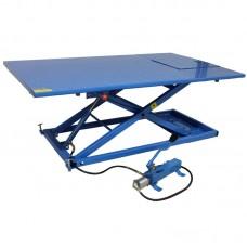 Quadlift heftafel motorlift  675kg met hydraulische voetpomp en luchtbediend